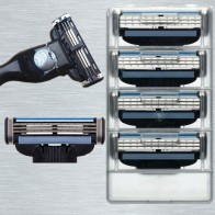 482.49 руб. 32% СКИДКА|Заменить для мужчин t Mach 3 бритья Лезвия для бритв fit 3 Слои бритвы уход за лицом лезвие 4 шт./кор. купить на AliExpress