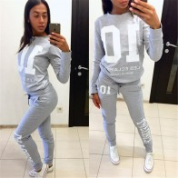 US $13.17 45% OFF|Women 2 Piece Set Hoodies Sweatshirt Top Jogging Suits Tracksuit Gym Pants Trouser Spring Women Sportwear Sweatshirt Leisure-in Women