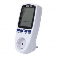 685.39 руб. 24% СКИДКА|ЕС цифровой ваттметр измеритель мощности счетчик энергии измеритель напряжения ваттметр анализатор мощности электронный счетчик энергии измерительная розетка купить на AliExpress