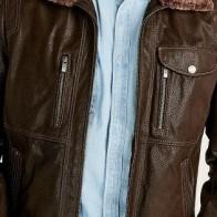 Мужская кожаная куртка Derimod ME-5638114381 - Мужские кожаные куртки