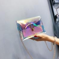 115.14руб. 40% СКИДКА|Женская сумка через плечо модная лазерная прозрачная сумка через плечо сумка мессенджер пляжная сумка 2019 новый дизайн сумки через плечо-in Сумки с ручками from Багаж и сумки on AliExpress