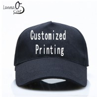 US $9.99 |Lanmaocat High Quality DIY Your Own Cap Custom Logo Caps Women Men Snapback Blank Customized Hats Dad Printed Cap Free Shipping-in Men