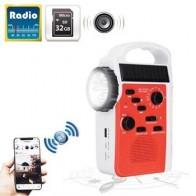 AM/FM Bluetooth Солнечная рукоятка Динамо наружное радио с динамиком аварийный приемник мобильный источник питания фонарик