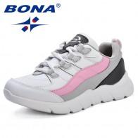 1723.43руб. 44% СКИДКА|BONA/Новое поступление; популярная стильная женская прогулочная обувь; женская спортивная обувь из синтетического материала; обувь для бега на открытом воздухе; женские кроссовки на шнуровке-in Обувь для ходьбы from Спорт и развлечения on AliExpress - 11.11_Double 11_Singles
