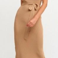 Женское платье Dilvin ME-101A02616_Camel - платье на новый год