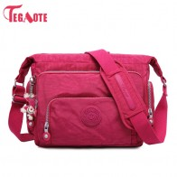 US $17.64 58% OFF|TEGAOTE Luxury Women Messenger Bag Nylon Shoulder Bag Ladies Bolsa Feminina Waterproof Travel Bag Women