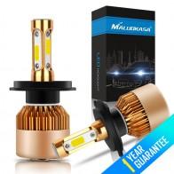 753.25 руб. 40% СКИДКА|MALUOKASA 2 шт S2 COB чип светодиодный фар лампы 72 W/pair 16000LM/набор 6500 K H1 H3 H7 H8/H9/H11 HB3 9006 H4 автомобиля лампы авто фары купить на AliExpress
