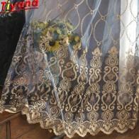 Синяя Роскошная вышивка, тюль для гостиной, дешевые занавески, занавески для спальни, скидка, желтая тонкая занавеска, вуаль, M072 #40