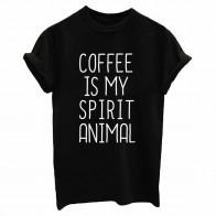 257.43руб. 30% СКИДКА|Coffee is my spirit, принт с животными, женская футболка, хлопок, на каждый день, Забавные футболки для леди, топ, футболка, хипстер, Прямая поставка, Tumblr SB 23-in Футболки from Женская одежда on AliExpress