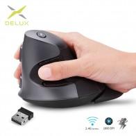 1241.77 руб. 40% СКИДКА|Delux M618GX эргономичная Вертикальная беспроводная мышь 6 кнопок 1600 dpi оптическая мышь с 3 цветами силиконовый резиновый чехол для ПК ноутбука-in Мыши from Компьютер и офис on Aliexpress.com | Alibaba Group