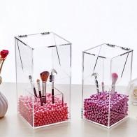 € 6.06 33% de DESCUENTO|Cristal acrílico maquillaje pincel lápiz labial organizador estuche cosmético caja de almacenamiento herramienta de maquillaje parpadeante soporte plástico perla venta-in Cajas y recipientes de almacenamiento from Hogar y jardín on Aliexpress.com | Alibaba Group