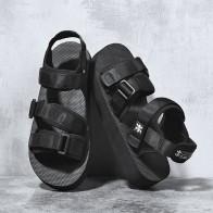 1230.95 руб. 38% СКИДКА|SUROM/летние пляжные босоножки на плоской подошве; Мужская обувь; повседневные модные удобные легкие сандалии гладиаторы для мужчин; Цвет Черный; Новинка-in Мужские сандалии from Обувь on Aliexpress.com | Alibaba Group