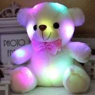 US $4.67 45% OFF|دروبشيبينغ 20 سنتيمتر ملونة متوهجة مضيئة الإضاءة محشوة الدب تيدي بير القطيفة الطفل اللعب هدايا جميلة للأطفال-في حيوانات قطيفة ومحشوة من الألعاب والهوايات على Aliexpress.com | مجموعة Alibaba