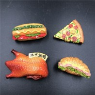 Bionic еда Хлеб холодильник паста пекинская утка пицца булочка гамбургер смола магнит на холодильник креативная еда ремесло - Прикольные магниты на холодильник