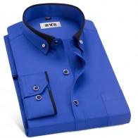 914.82 руб. 50% СКИДКА|MACROSEA/мужская деловая рубашка на весну и осень, мужская деловая рубашка с воротником на пуговицах, Модная стильная мужская повседневная рубашка-in Классические рубашки from Мужская одежда on Aliexpress.com | Alibaba Group