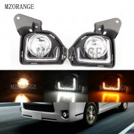 MZORANGE 2pcs For Toyota Hiace 2014 2015 2016 2017 2018 LED 12V ABS Car Fog Lamp DRL Daytime Running Light With Turn Signal - aliexpress.com