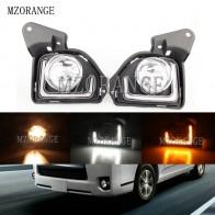 MZORANGE 2pcs For Toyota Hiace 2014 2015 2016 2017 2018 LED 12V ABS Car Fog Lamp DRL Daytime Running Light With Turn Signal - aliexpress.com