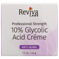 Reviva Labs, 10% Glycolic Acid Cream, Anti-Aging, 1.5 oz (42 g)