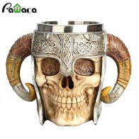 US $14.41 41% OFF|Stainless Steel Skull Mug Viking Ram Horned Pit Lord Warrior Beer Stein Tankard Coffee Mug Tea Cup Halloween Bar Drinkware Gift-in Mugs from Home & Garden on Aliexpress.com | Alibaba Group