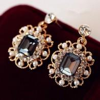 2018 Лидер продаж настоящее Pendientes Mujer Brincos Ювелирные изделия Шарм модные свадебные серьги и падение для женщин кристалл кулон подарок купить на AliExpress