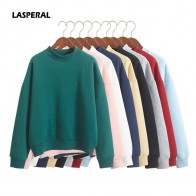 US $7.03 28% OFF|LASPERAL Wholesale Cute Women Hoodies Pullover 9 colors 2019 Autumn Coat Winter Loose Fleece Thick Knit Sweatshirt Female S 3XL-in Hoodies & Sweatshirts from Women