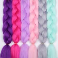 123.18 руб. 49% СКИДКА|MERISIHAIR 24 дюймов цветной канекалон синтетических вязания крючком волос Jumbo косички Прически розовый блондинка Красный синие волосы для заплетания купить на AliExpress