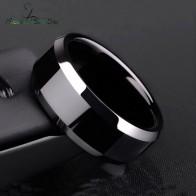 44.47 руб. 10% СКИДКА|Nextvance 8 мм титановая сталь черное классическое кольцо для мужчин обручальные кольца радужные кольца мужские ювелирные изделия Прямая доставка купить на AliExpress