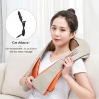 Electrical Massage Shiatsu Back Shoulder Body Neck Massager Multifunctional Shawl Infrared Heated Kneading Car/Home Massager - ТОП-10 массажеров
