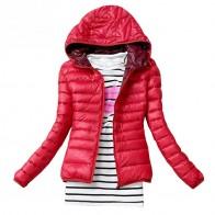 530.81 руб. 8% СКИДКА|2019 осенне зимняя женская простая куртка пальто женские тонкие брендовые хлопковые пальто с капюшоном повседневные Черные куртки-in Базовые куртки from Женская одежда on Aliexpress.com | Alibaba Group