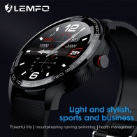 LEMFO Смарт часы ЭКГ Bluetooth сердечного ритма считывание уведомления полный сенсорный экран IP68 Водонепроницаемые спортивные Смарт часы для мужчин и женщин on AliExpress - Умные часики