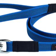 Купить Поводок для собак Gripalle прорезиненный, стальная фурнитура синий 5 м 18 мм по низкой цене с доставкой из маркетплейса Беру