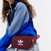 Бордовая сумка-кошелек на пояс с логотипом adidas Originals