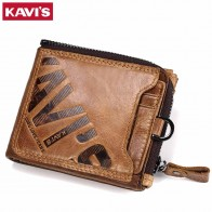 US $13.36 54% OFF|KAVIS Crazy Horse Genuine Leather Wallet Men Coin Purse Male Cuzdan Walet Portomonee PORTFOLIO  Perse Small Pocket money bag-in Wallets from Luggage & Bags on Aliexpress.com | Alibaba Group