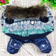 574.34 руб. 20% СКИДКА|Синяя и белая Роскошная меховая стильная зимняя куртка для собаки, бесплатная доставка, одежда для собак CPAM-in Пальто и куртки для собак from Дом и сад on Aliexpress.com | Alibaba Group