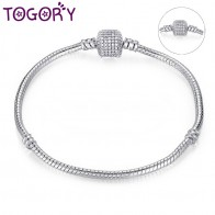 US $0.99 30% OFF|TOGORY Dropshipping Authentic Silver Plated Snake Chain DIY Charm Bracelet & Bangle DIY Pandora Bracelet Jewelry for Women Gift-in Charm Bracelets from Jewelry & Accessories on Aliexpress.com | Alibaba Group