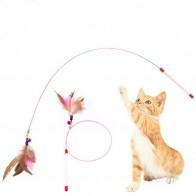 65.4 руб. 20% СКИДКА|100 см Длина высокое качество кошка игрушка с колокольчиком новый дизайн птичье перо плюшевая пластиковая игрушка для кошек кошатник игрушка-in Игрушки для кошек from Дом и сад on Aliexpress.com | Alibaba Group