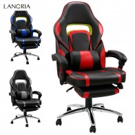 US $82.49 25% OFF|LANGRIA Adjustable Office Chair Ergonomic High Back Faux Leather Racing Style Reclining Computer Gaming Executive PaddedFootrest-in Office Chairs from Furniture on Aliexpress.com | Alibaba Group