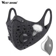 West biking KN95 Спортивная велосипедная маска PM2.5 анти-загрязнения активированный уголь Половина лица щит смываемая маска с фильтром для мужчин