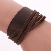 US $1.89 5% OFF|Lackingone bracelet 2018 christmas gift Unisex Multi braided Genuine Leather bracelets for women hot sale pulseras-in Hologram Bracelets from Jewelry & Accessories on Aliexpress.com | Alibaba Group