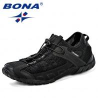 1728.98 руб. 44% СКИДКА|BONA/2018 летние кроссовки, дышащая мужская повседневная обувь, модная мужская обувь, Tenis Masculino Adulto Sapato Masculino, Мужская обувь для отдыха купить на AliExpress