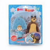 Играем вместе Набор из 2-х фигурок: медведь и Маша-снегурочка, купить в интернет-магазине по цене 598 руб - Игрушки для детей