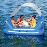 19422.87 руб. 25% СКИДКА|Океанский рай кресло плавающий ряд плавающая кровать плавающий отдых вода ряд плавание Opblaasbare Zwembad Speelgoed Boia купить на AliExpress