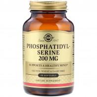 Solgar, Phosphatidylserine, 200 mg, 60 Softgels - Витамины для сна и мозговой активности