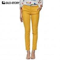 1564.8 руб. 55% СКИДКА|GLO STORY 2019 весенние женские однотонные прямые брюки с поясом на молнии, рабочая одежда для офиса, женские брюки, Женская Нижняя WSK 7983-in Штаны и капри from Женская одежда on Aliexpress.com | Alibaba Group