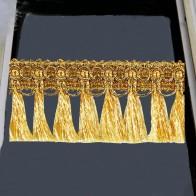 648.12 руб. 15% СКИДКА|10y цвета: золотистый, серебристый Плетеный с бахромой кружевной лентой отделка группа обрезки DIYfor одежда Шторы оформлен Швейные аксессуары T2729 купить на AliExpress