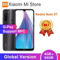 Xiaomi Redmi Note 8 T, глобальная версия, 4 Гб ОЗУ, 64 Гб ПЗУ, NFC, мобильный телефон, 48мп, четырехъядерный процессор Snapdragon 665, четыре ядра, 4000 мА/ч on AliExpress
