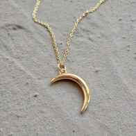 925 Sterling Silver Jewelry Gold Moon Pendant Necklace Crescent Choker Necklace For Women Birthday Festival Jewelry Gift