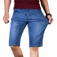 882.78 руб. 53% СКИДКА|Большие размеры 40, 42, 44, 46, 2019 летние новые мужские деловые джинсовые шорты модные повседневные Стрейчевые тонкие синие короткие джинсы мужские-in Шорты from Мужская одежда on Aliexpress.com | Alibaba Group