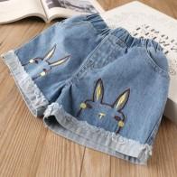 Hurave новая джинсовая одежда для девочек с вышивкой Шорты Лето Модная одежда для детей, Детская Мода Шорты для девочки одноцветное для малышей штаны для девочек купить на AliExpress