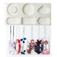 Прозрачная силиконовая форма высушенный цветок смола декоративное ремесло DIY ожерелье цепь свитер кулон эпоксидная смола формы для ювелир... - Форма для эпоксидной смолы
